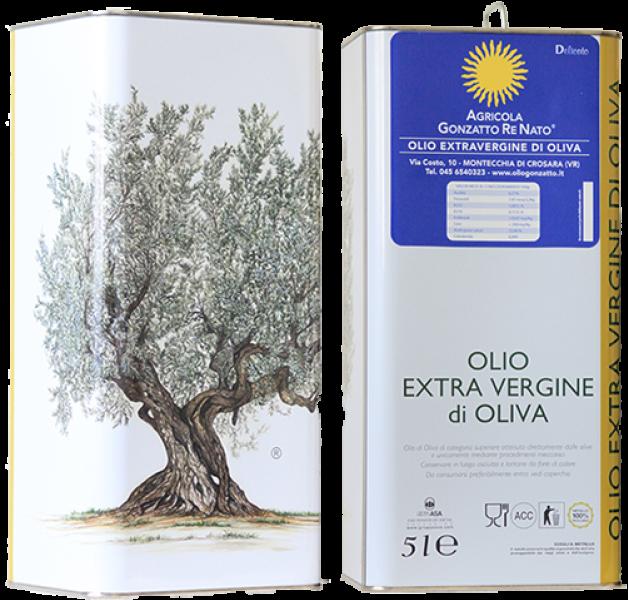 Olio extra vergine di oliva delicato 5lt